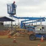 Treinamento de segurança plataforma elevatória
